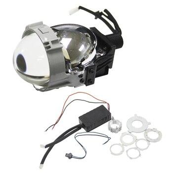 SHUOKE 2.5 Inch RHD LHD Lens Biled Bi-LED Bi LED Projector Lens Light Lamp 12V 36W 6000LM Per 6000K Lossless Install 2 pcs shuoke mini 2 5 inch bi led projector lens 6000k retrofit car motorcycle projector headlight led high low beam projector