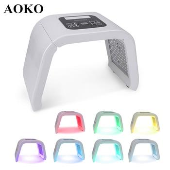AOKO 7 Color Led Mask Facial LED Photon Therapy Skin Rejuvenation Device Acne Treatment Anti Wrinkle Beauty Instrument Salon SPA