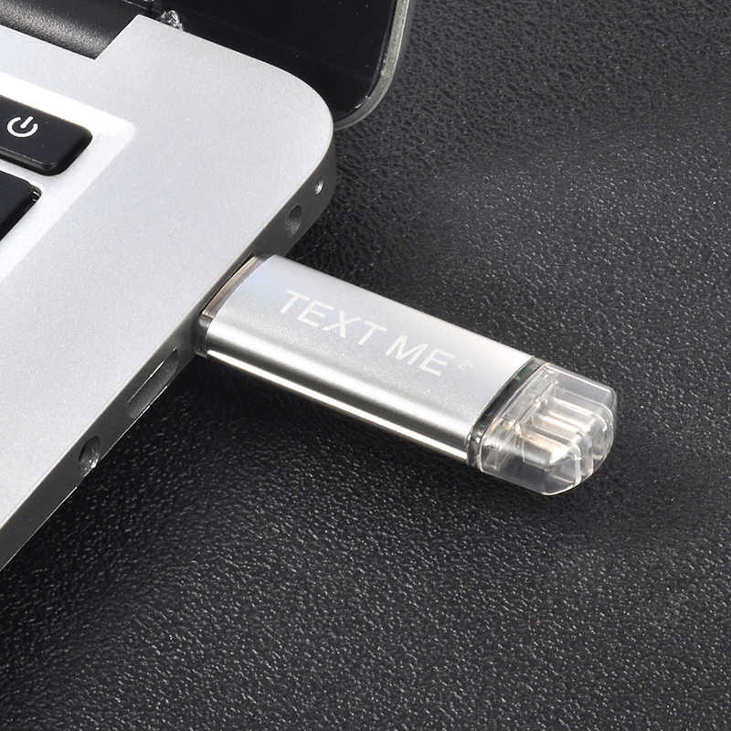 Metin yaratıcı OTG usb 2.0 64GB USB flash sürücü kalem sürücü 4GB 8GB 16GB 32GB bellek sopa