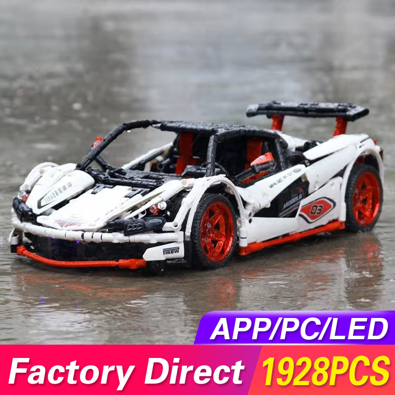 Technic MOC McLaren P1 Super Hypercar Veneno Roadster Model Kit Building Blocks Compatible LegoED 42056 APP RC Car Bricks Toys image