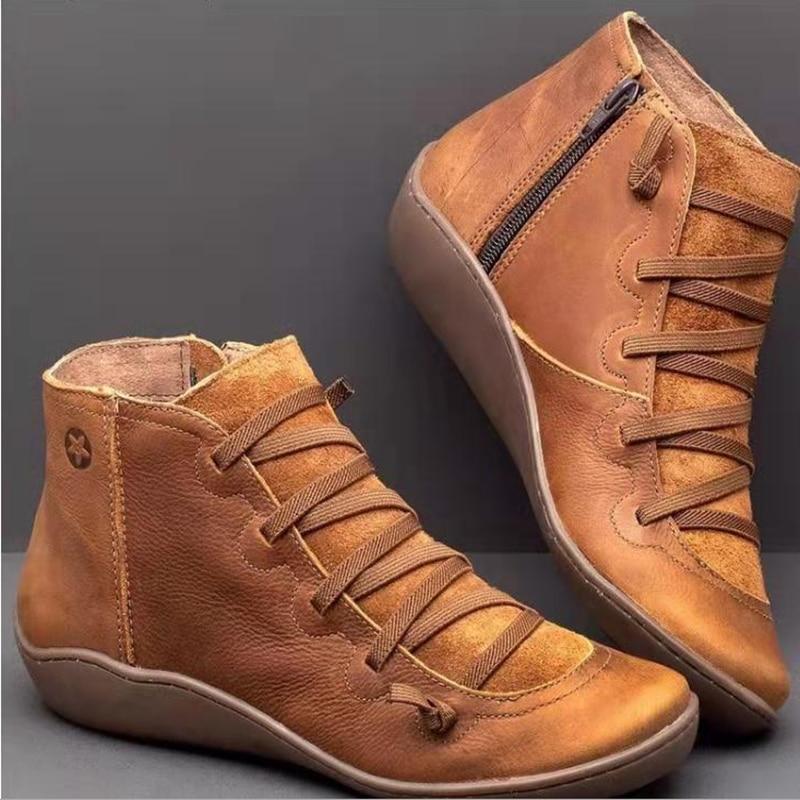 2019 Herfst Schoenen Vrouwen Laarzen Vrouwelijke Winter Enkellaars Voor Vrouwen Winter Laarzen Laarsjes Etnische Zachte Comfy Dames Schoenen Plus size