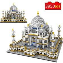 Construcción del Taj Mahal Palace para niños, 3950 Uds., juego de bloques, arquitectura, monumentos, modelo, bloques de construcción, juguetes educativos, 3D, piezas, regalos de navidad