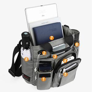 "Image 4 - לוח כתף תיק עבור ipad 7.9 ""9.7"" 10.1 ""12"" 10.5 12.9 אינץ אוויר מיני פרו 2020 חדש גברים פנאי נסיעות שליח שחור שקיות ניידים"