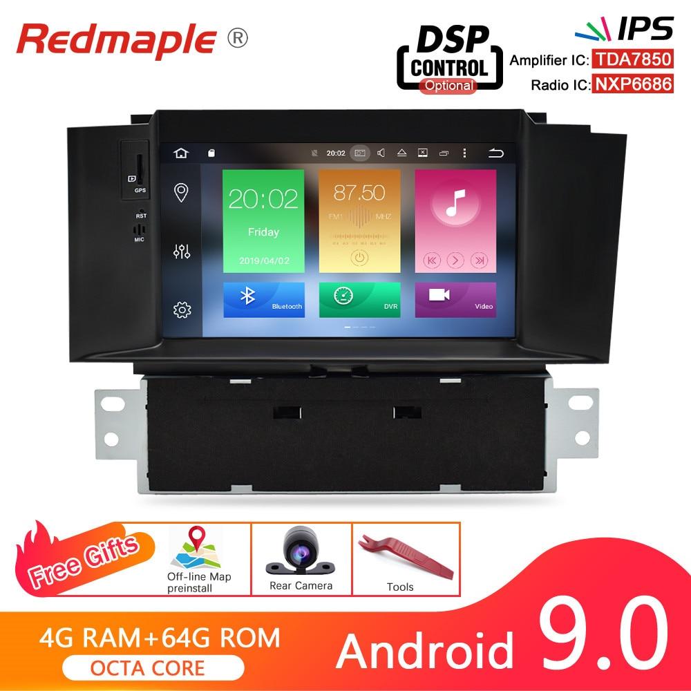 Ips 4g ram android 9.0 rádio do carro dvd gps navegação multimídia player para citroen c4 c4l ds4 2011-2016 wifi auto unidade central estéreo