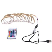 RGB 5050 12v LED Strip Light Flexible Ribbon led light strip RGB 1M 1.5M 2M Tape Diode DC 12V+ Remote Control(China)