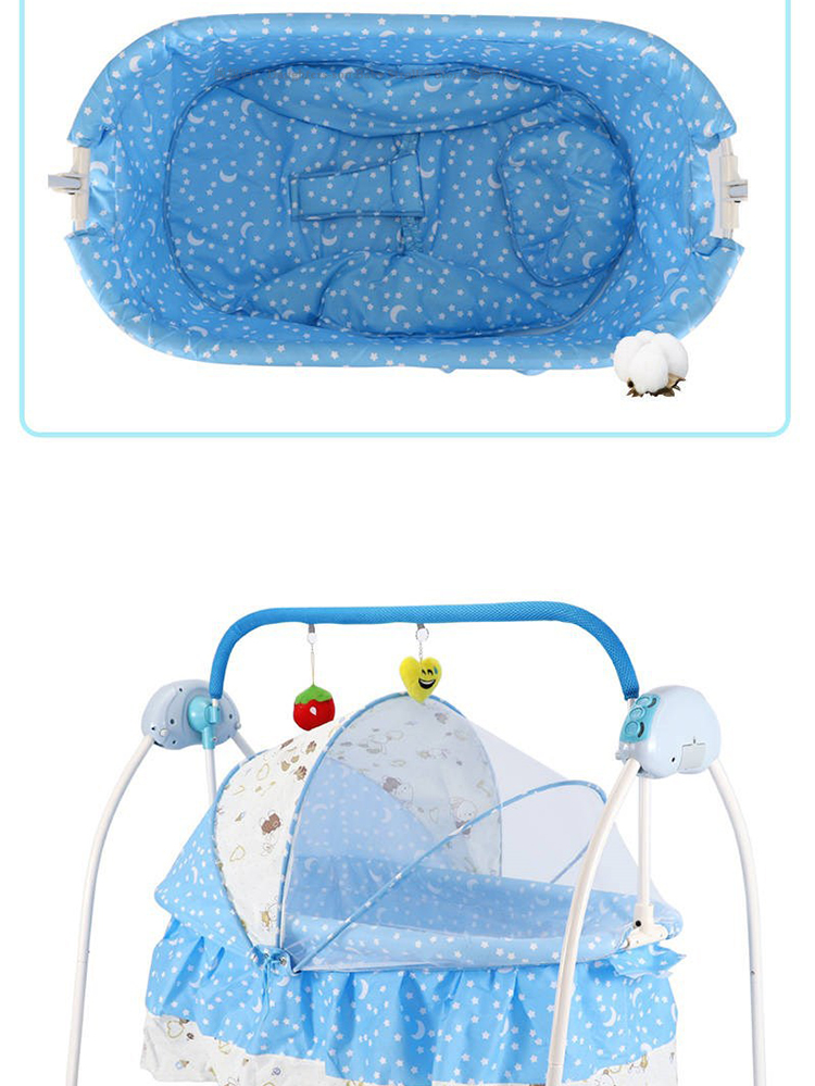He5dc008805b8475fba7f4c8ee2653ff9H For Newborns Bed Baby Electric Swing Newborn Bed Smart Cradle Children's Rocking Chair Bed Full Sets Cradle