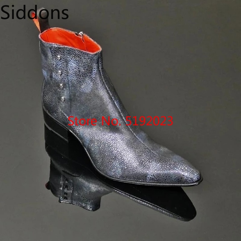 Winter Men Fashion Luxury Pointed Toe Chelsea Boots Vintage Black Comfortable Ankle Boots Zipper Male Casual Boot D180