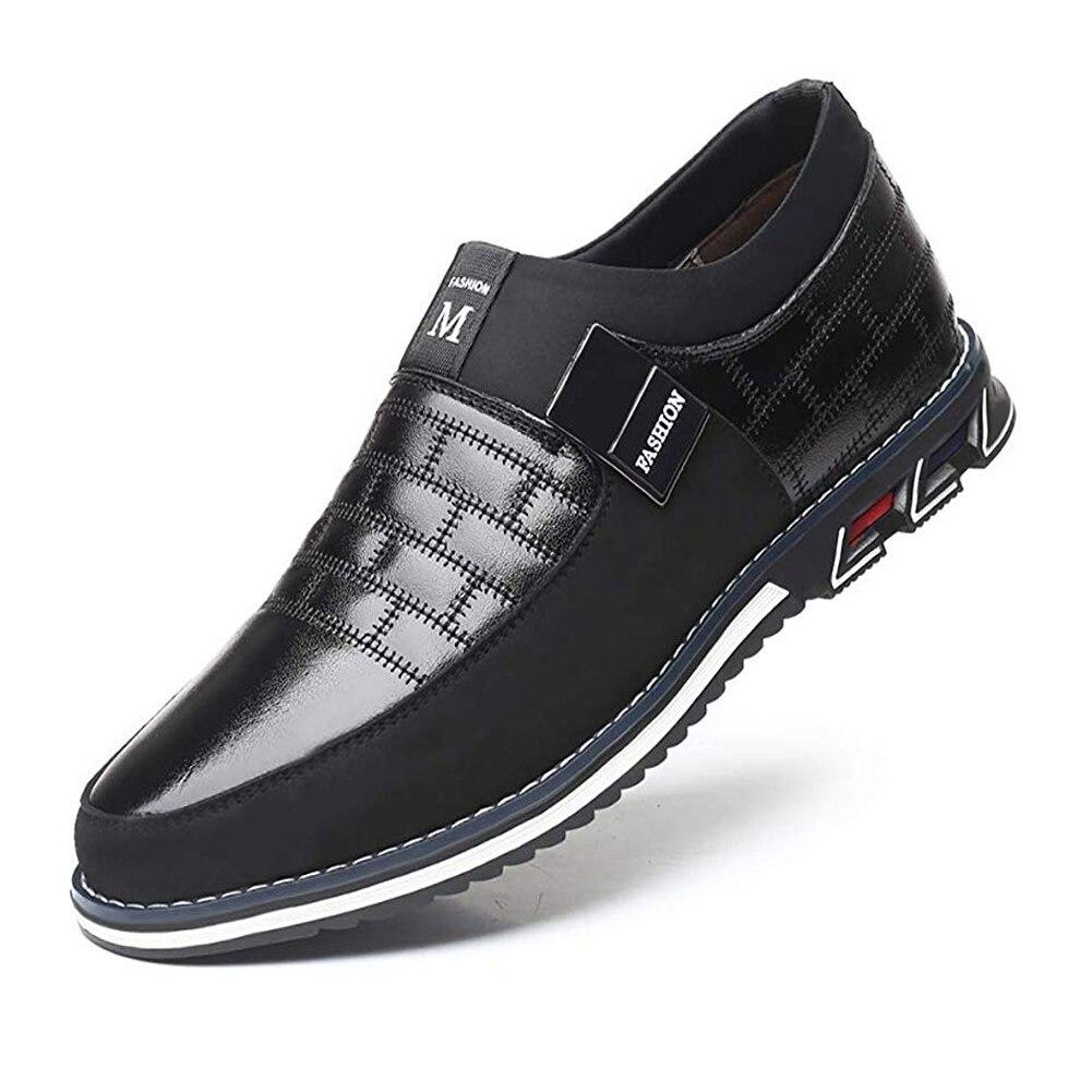 Оксфорды; кожаная мужская обувь; модная повседневная обувь без шнуровки; официальная обувь в деловом стиле; повседневная кожаная обувь для мужчин; Прямая поставкаПовседневная обувь   -