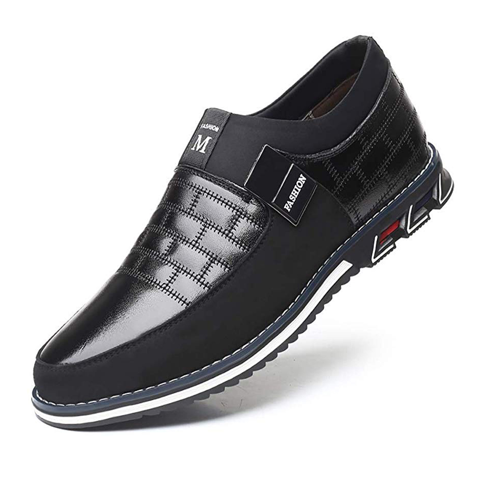Oxfords Leather Men Shoes Fashion Casual Slip on Formal Business Shoes Casual Leather Shoes for Man Drop ShippingOxfords   -