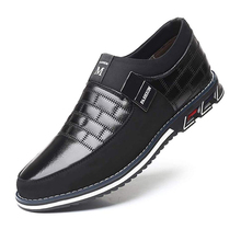 Oxfords Leather Men Shoes Fashion Casual Slip on Formal Business Shoes Casual Leather Shoes for Man Drop Shipping