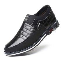 Oxfords couro sapatos masculinos moda casual deslizamento em sapatos de negócios formais sapatos de couro casual para o homem transporte da gota