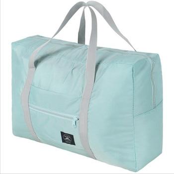 Waterproof Nylon Travel Bags Women Men Large Capacity Folding Duffle Bag Organizer Packing Cubes Luggage Girl Weekend Bag