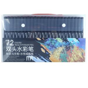 Image 2 - 48/60/72/100 sztuk wysokiej jakości podwójny rysunek manga pióro artystyczne dla Bullet Journal kolorowanki dla dorosłych kaligrafii napis