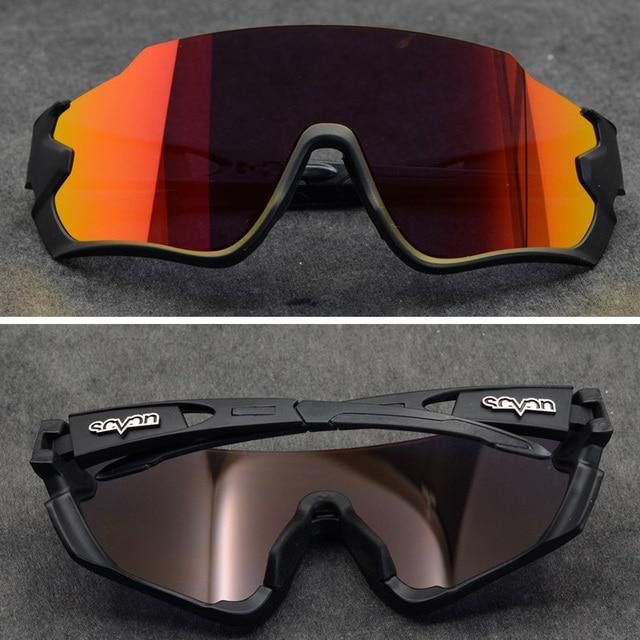 Polarizado óculos de ciclismo homem esporte óculos de sol photochromic uv400 5 lente deportivas polarizadas hombre gafas oculos ciclismo 2