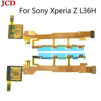 JCD New For Sony Xperia Z L36H L36 LT36 C6602 C6603 Power Button Flex Cable With Microphone Ribbon Volume Power ON OFF Button image