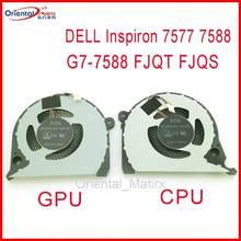 Dfs200005cd0t dfs541105fc0t ep dc5v 0.50a 4pin para dell inspiron G7-7588 G7-7577 fjqt fjqs portátil cpu cooler ventilador de refrigeração