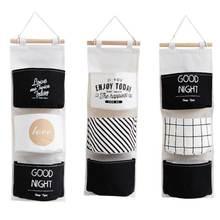 Подвесная сумка в нордическом простом стиле черно белая подвесная
