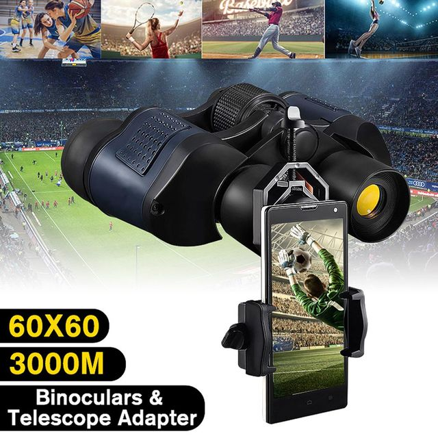 New Hot 60X60 Zoom Day/Night Vision Outdoor HD Binoculars Hunting Telescope with Case SMR88 6