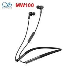 SHANLING MW100 ハイファイオーディオグラフェンドライバ Bluetooth ワイヤレスイヤホン液体シリコンネックバンドサポートの Apt X 高速充電