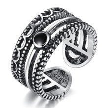 New High Quality Vintage Open Ring Pure 925 Sterling Silver Spiral Ring Charms Statement Finger Jewelry Party Gift 2Y885(China)
