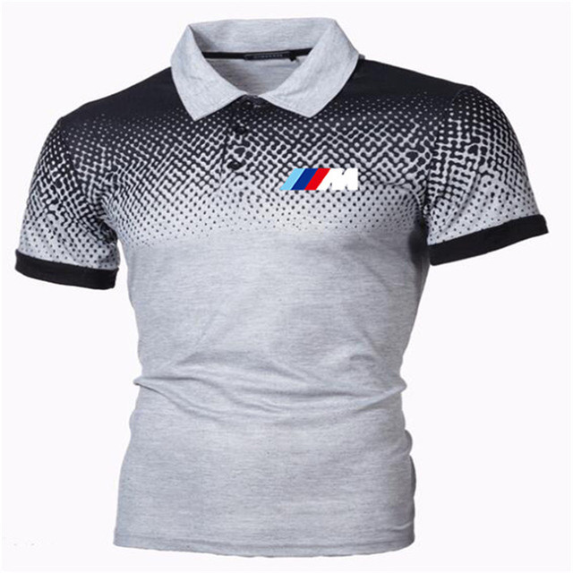 New Summer Men Brand Clothing printing BMW M Men Business fashion Casual Male Polo Shirt Short Sleeve Breathable Soft Polo Shirt 4