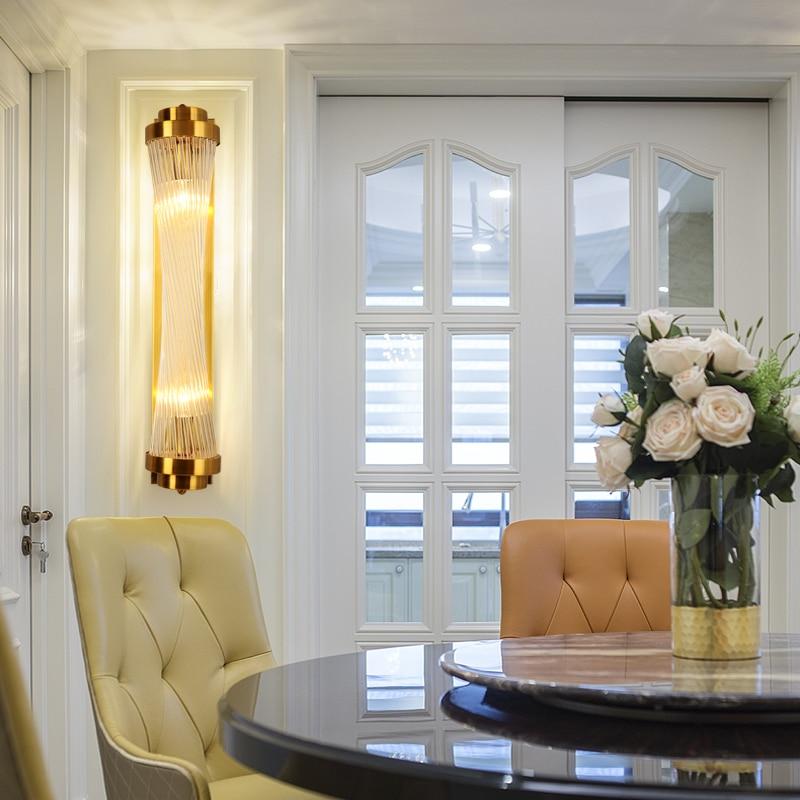 Moderne licht luxe wandlamp Nordic gecontracteerd zitkamer achtergrond muur gang balkon trap slaapkamer nachtkastje kristallen - 6
