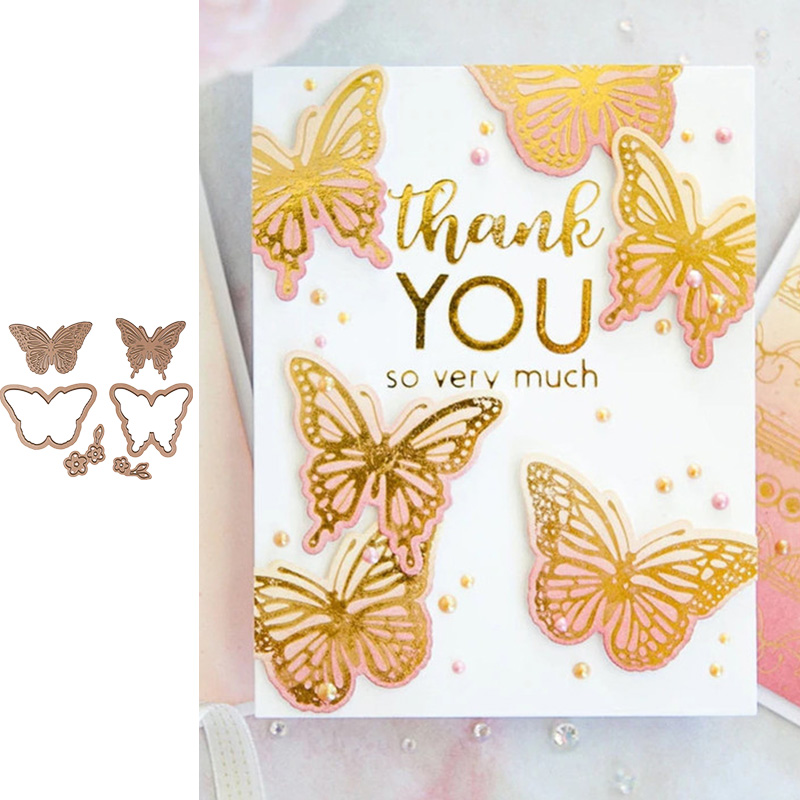 Butterfly Metal Hot Foil Plate For Scrapbooking And Card Making New 2019 Dies