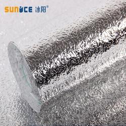 Sunice 40cmx5m Orange Peel Waterproof Anti-oil Stain Aluminum Foil Sticker Kitchen Cabinet Sticker Wall Paper