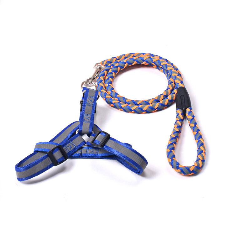 New Style Cross Border Hot Selling Pet Fan Guang Sheng Dog Hand Holding Rope Nylon Rope Small And Medium-sized Dogs Chain