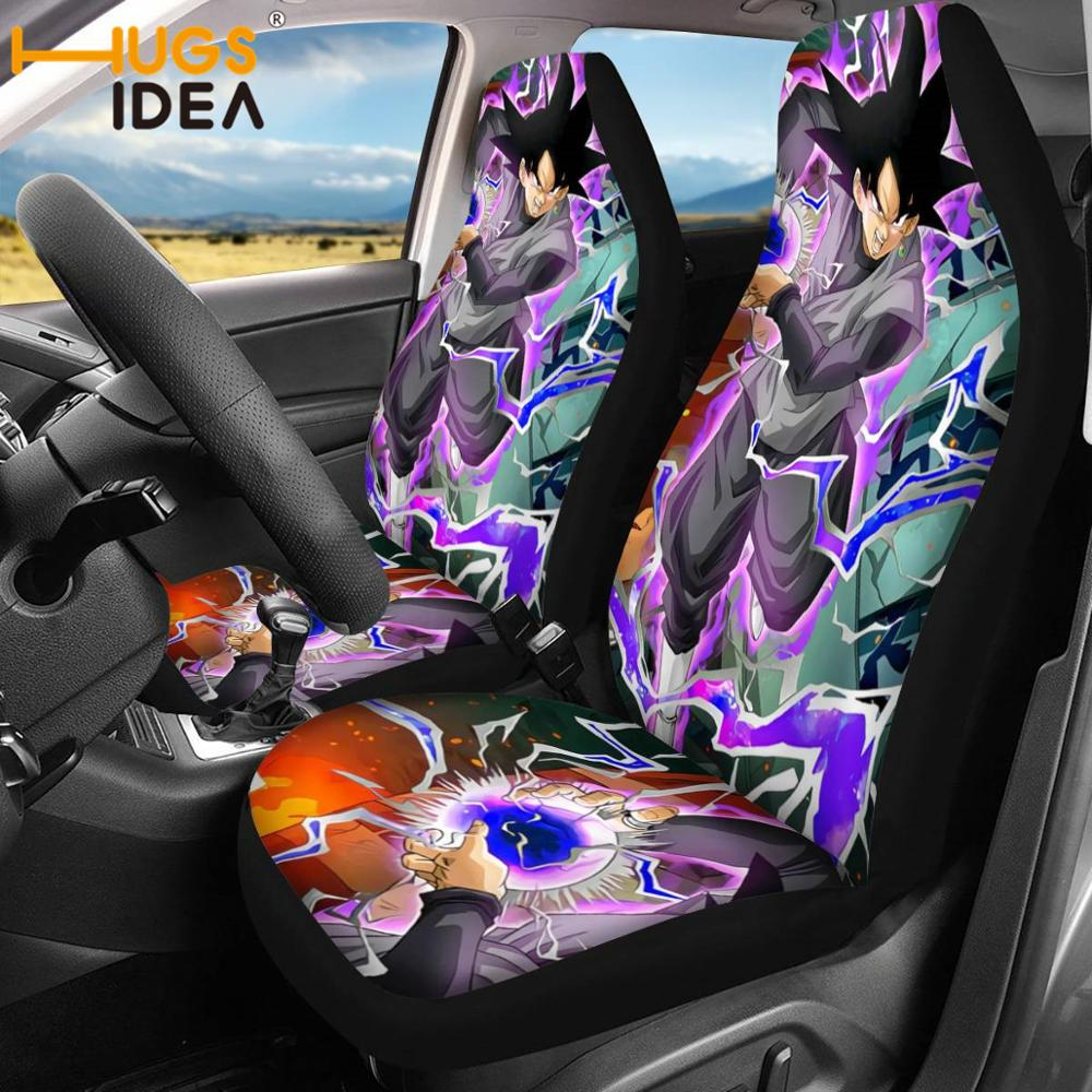 HUGSIDEA Anime Dragon Ball Car Seat Covers Vehicle Decor Accessories Cartoon Universal Cars SUV Protector Seat Covers