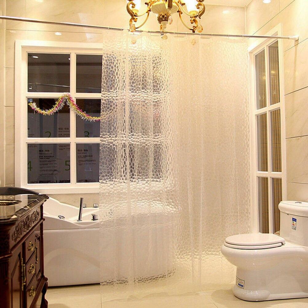Shower Curtain Accessaries Bathing-Sheer Bathroom Transparent Home-Decoration Waterproof