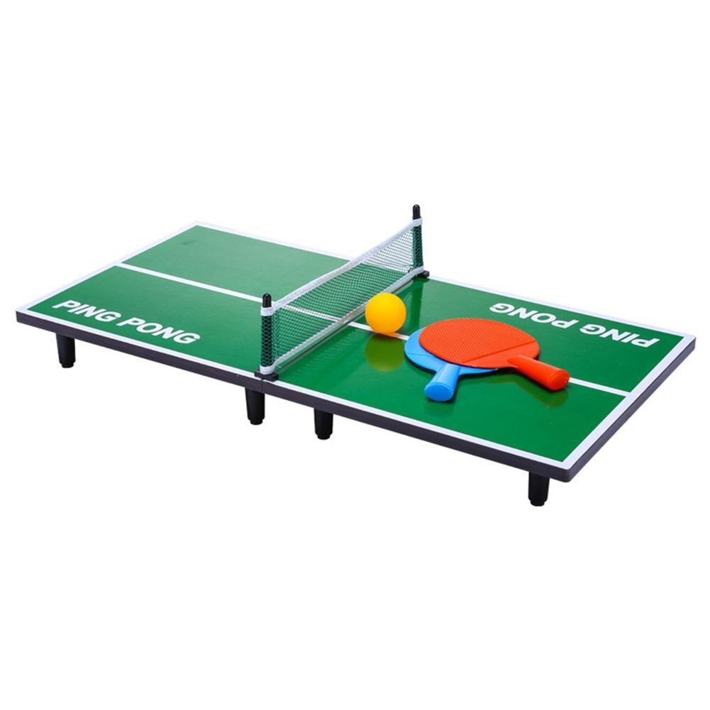 Мини-набор для настольного тенниса, складной деревянный стол для пинг-понга с 2 ракетками, портативная настольная игра для помещений, детская игрушка 2
