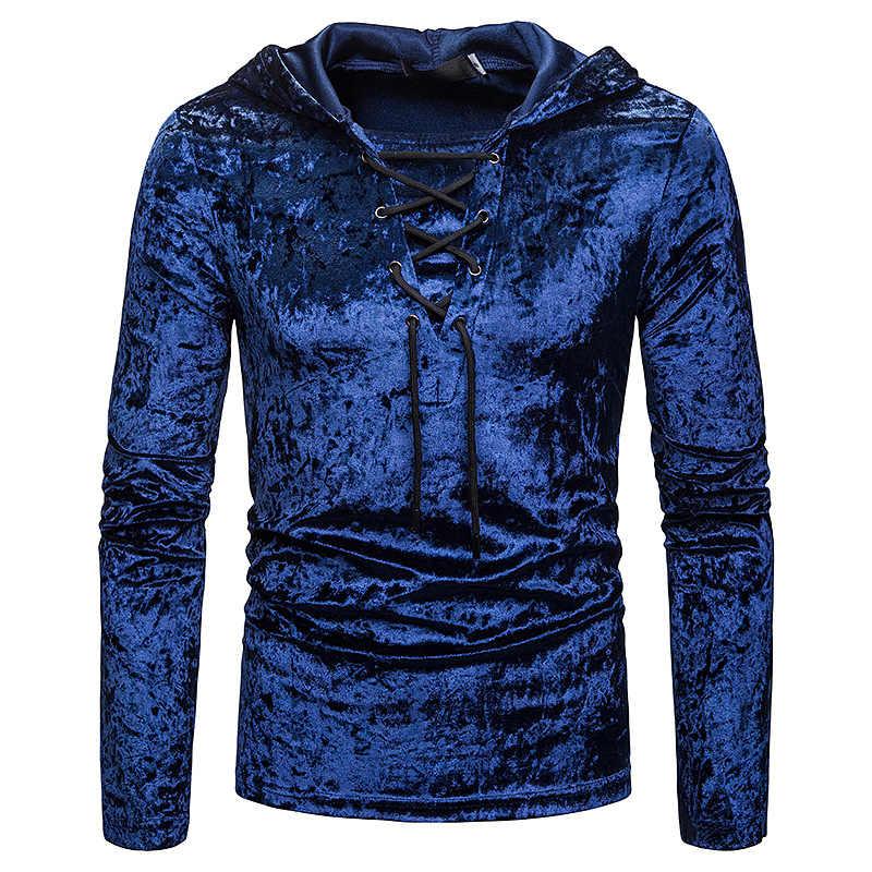 Camiseta de manga larga con capucha para hombre, estilo escocés, Jacobite Ghillie killit, con cordones, sudaderas de terciopelo, camisetas para hombre, camiseta negra informal de Hip Hop