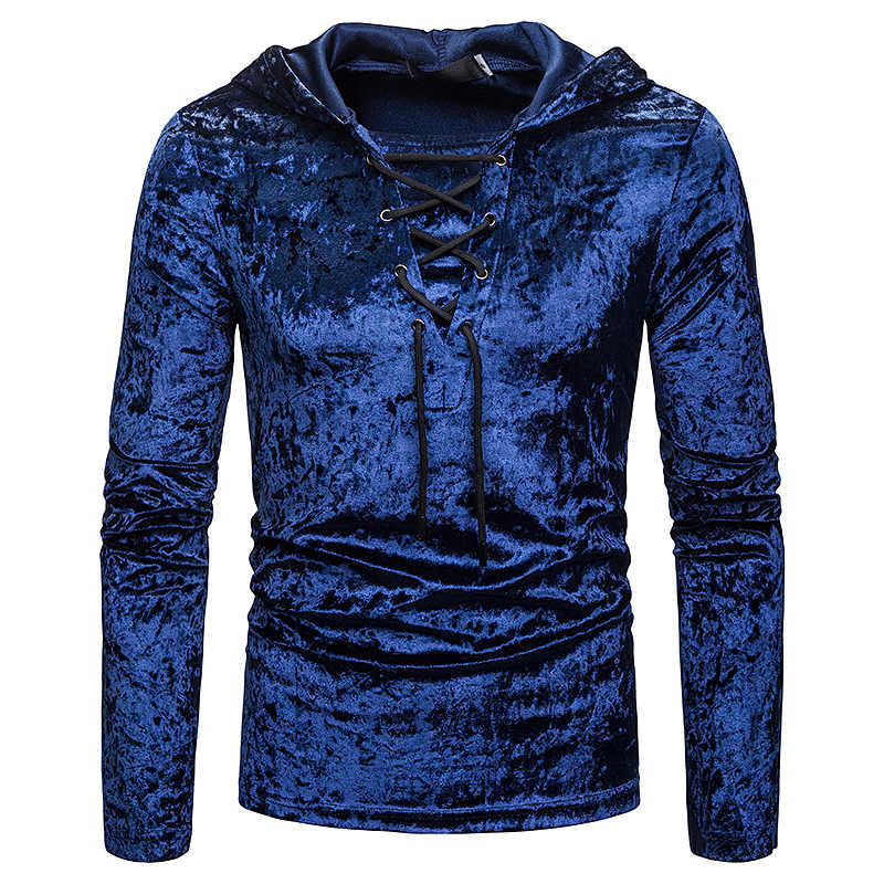 Mannen Schotse Jacobite Ghillie Kilt Kant-up Hooded T-shirt Lange Mouw Fluwelen Hoodies T-shirts Mannelijke Hip Hop Casual zwarte Top Tee