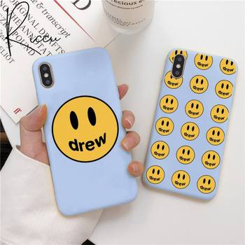 Justin Bieber drew house Phone Case for iPhone 12 mini pro max 11 Pro Max X XR XS 8 7 6s Candy Blue Silicone Case image