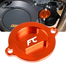 цена на Motorcycle Accessoires motobike CNC Aluminum Refit Engine Oil Filter Cover Cap Engine Tank Covers Oil Cap For Husqvarna FC