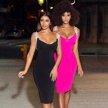 Adyce 2020 New Summer Tassel Banage Dress Women Sexy Spaghet