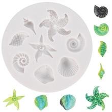 Chocolate Mold Shell Cake-Decorating-Tools Starfish Fondant Sea-Creatures DIY Conch