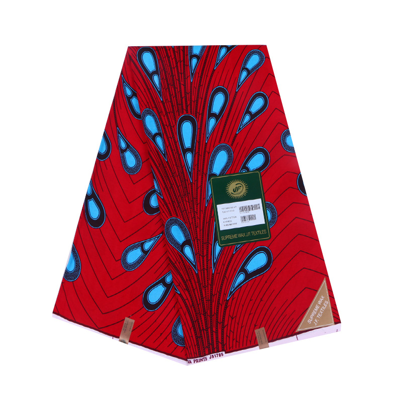 African Pange Wax Fabric For Indonisia Batik Cotton Wax Real Block Print Veritable Wax Fabrics Material For Sewing Dress
