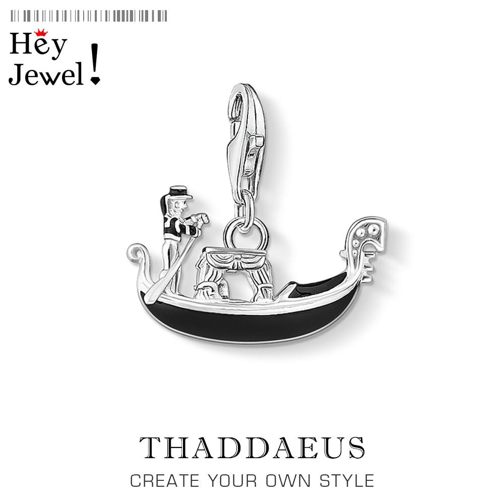 Charm Pendant Venice Gondola,Thomas Accessories Good Jewelry For Women Men,2020 Romance Gift In 925 Sterling Silver Fit Bracelet