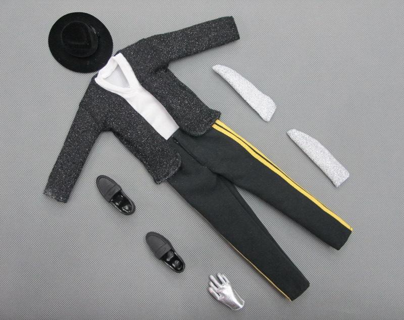 1//6 Scale ZYTOYS ZY16-7 Michael Jackson Black Dancing Clothes Set