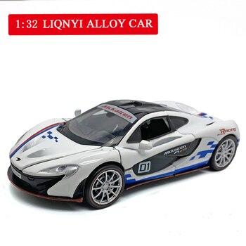 цена на Alloy Diecast Model Car 1:32 Children Metal Toys Toyota Camry Sport Car Pull Back Flashing For Kids No Box Christmas Gifts