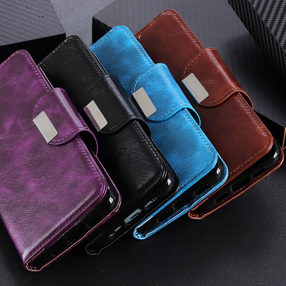 Image 2 - 6 Card Slots Wallet Flip Leather Case for LG Stylo 5 4 K40 K50 G8 G8S ThinaQ X4 Stand Magnetic Closure ID & Credit Cards Pocket-in Wallet Cases from Cellphones & Telecommunications