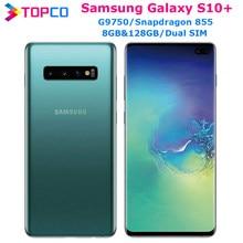 Samsung Galaxy S10 + S10 artı G9750 Snapdragon855 Unlocked cep telefonu = = = = = = = = = = = = Octa çekirdek 6.4