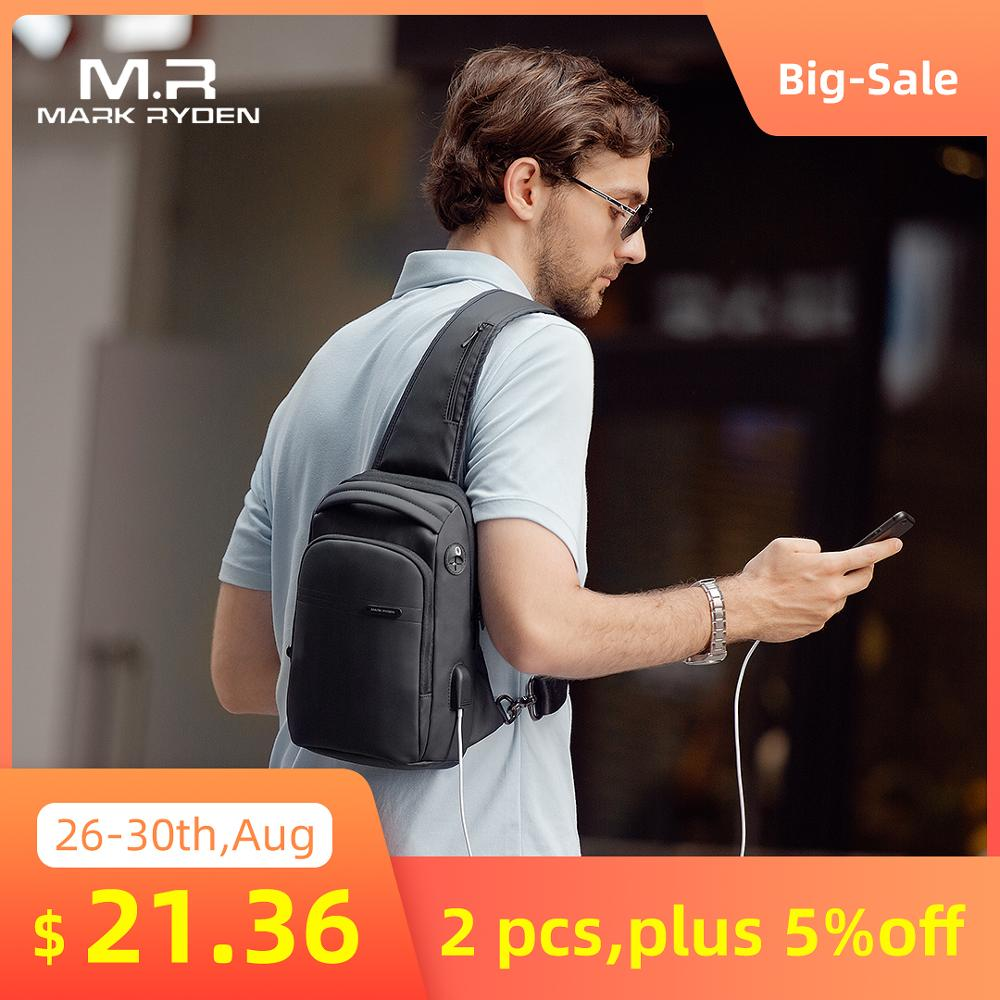 Crossbody-Bag Mark Ryden Men Sling Multifunction Waterproof Fashion iPad Fit New