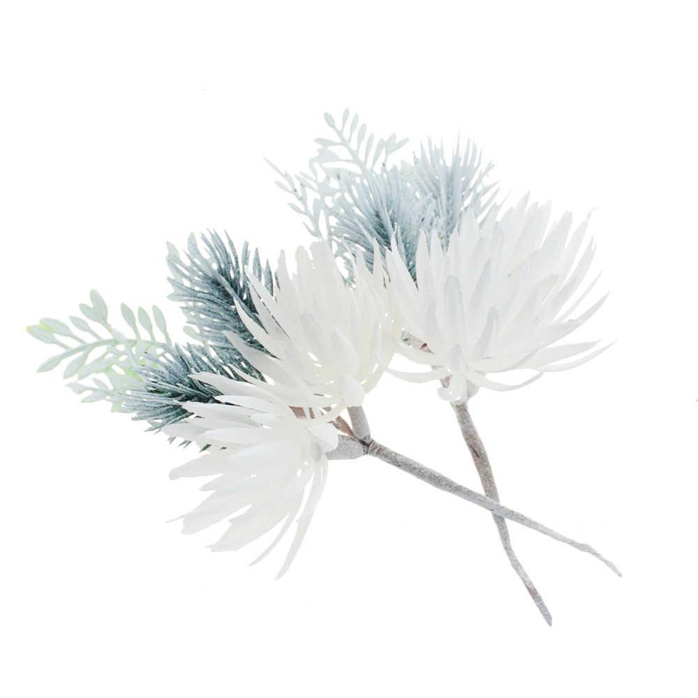 1 Pcs 16 Cm Bunga Buatan Pine Rumput Bunga Pesta Pernikahan Dekorasi DIY Kerajinan Buku Tempel Bunga Palsu Dekorasi Natal