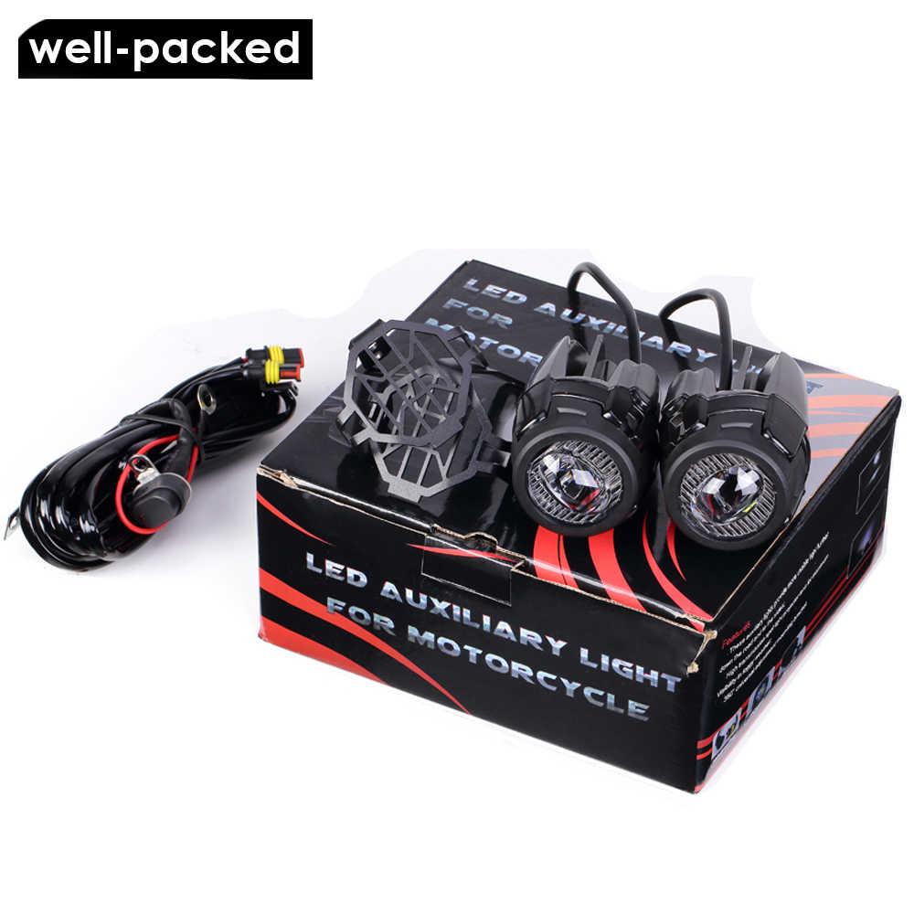 Sepeda Motor Lampu Kabut untuk BMW R1200GS ADV F800GS F700GS F650GS K1600 LED Auxiliary Kabut Lampu Assemblie Mengemudi Lampu 40W