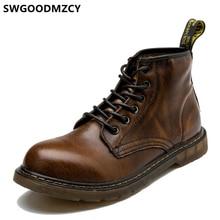 Stivaletti uomo stivali in vera pelle scarpe da uomo marchio di lusso coappendere stivali militari scarpe firmate misura grande 47 Erkek Ayakkabi