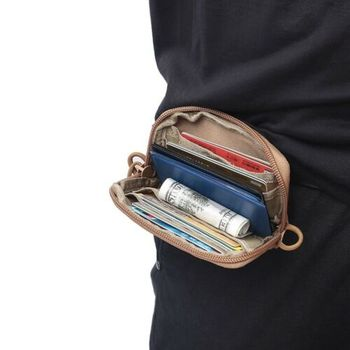 Taktyczna wodoodporna moneta saszetka na dowód osobisty portfel EDC pokrowiec Molle wodoodporny brelok etui na pieniądze opakowanie etui na talię tanie i dobre opinie CN (pochodzenie) NYLON