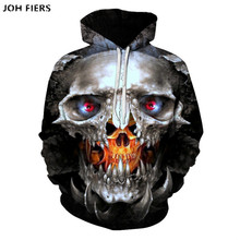 2019 hot Sale Hoodies Skull Men/Women 3D Print Graphic Skeleton Boy/Girl long sleeve spring Autumn  Cool Fashion Tops